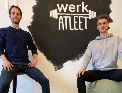 Kantoor in Beweging en Werk Atleet slaan handen ineen voor meer vitaliteit
